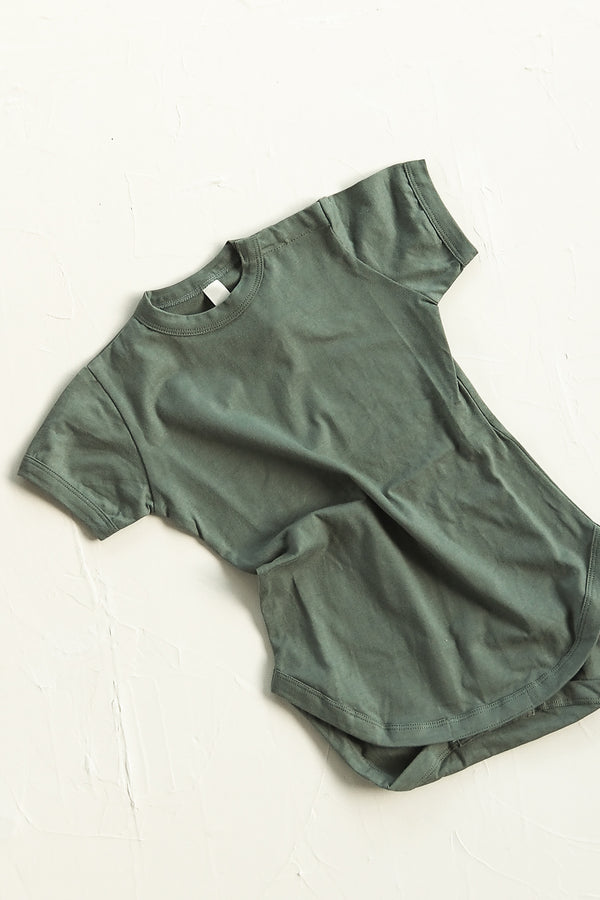 The Basic Tee Onesie - Moss