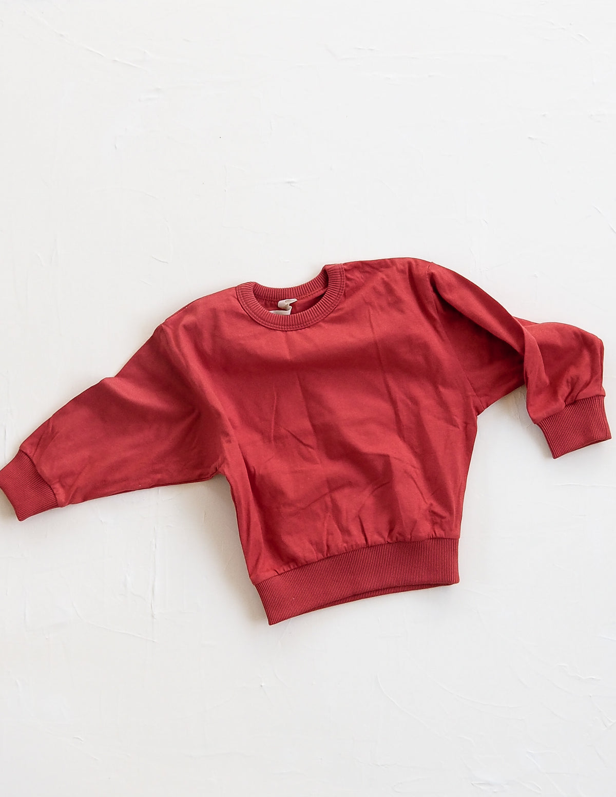 The Basic Sweat Top - Red