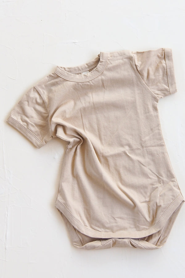 The Basic Tee Onesie - Sand