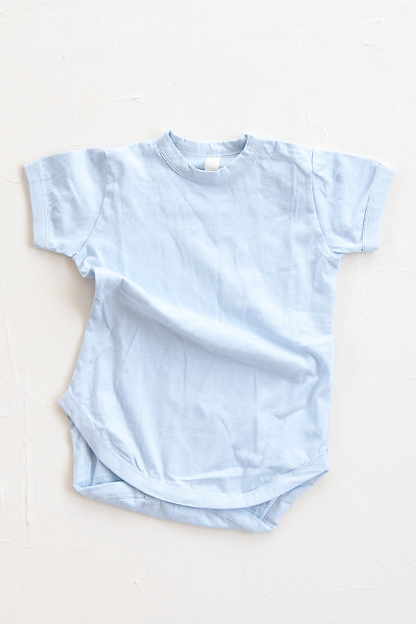 The Basic Tee Onesie - Sky