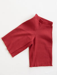 The Weekender Flare Pant - Red