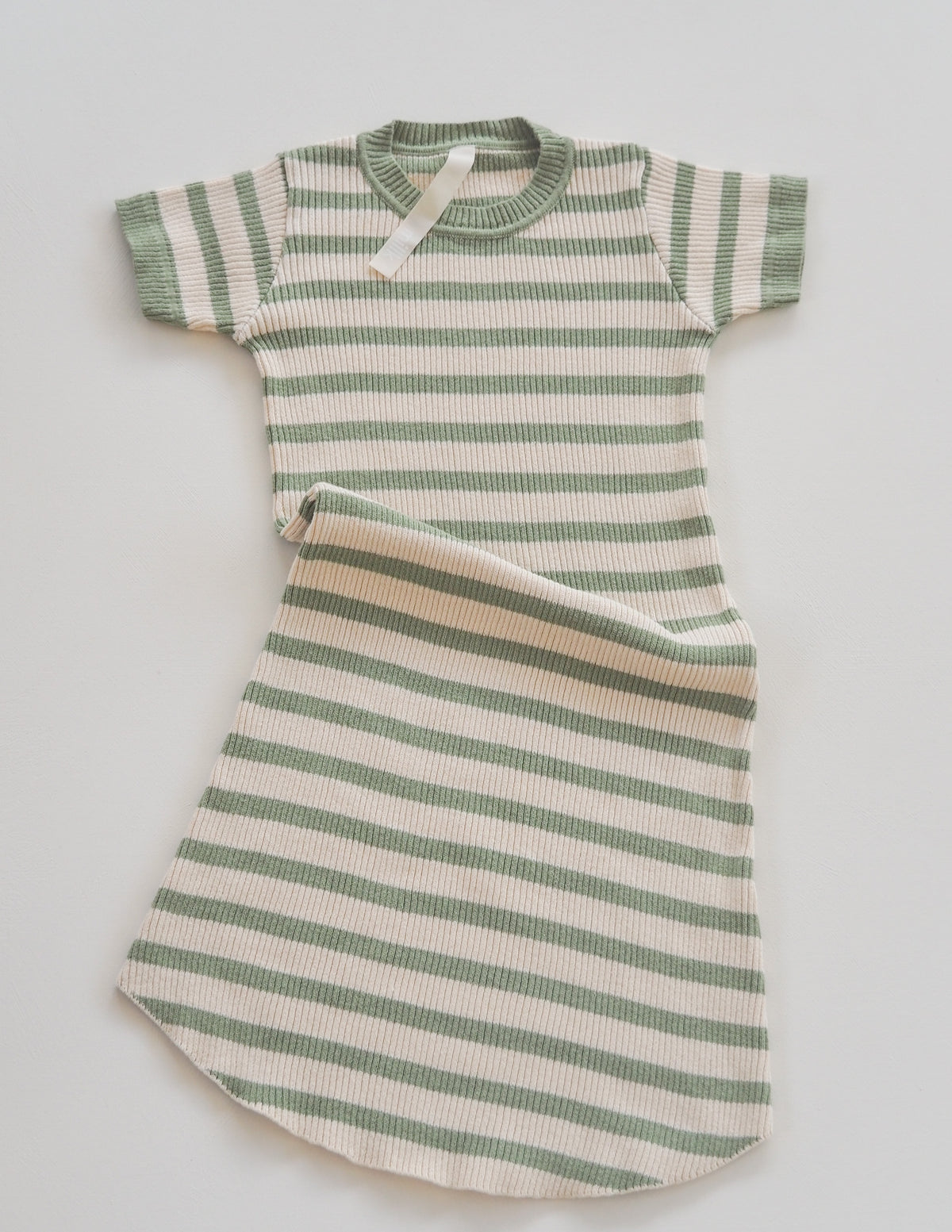 The Fancy Dress - Olive & Natural Stripe