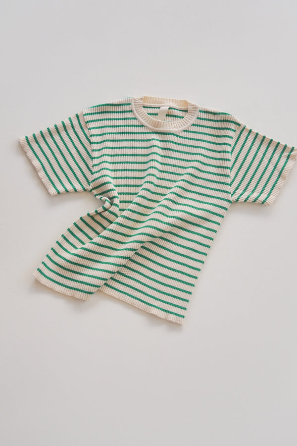 The Spontaneous Tee - Apple Stripe