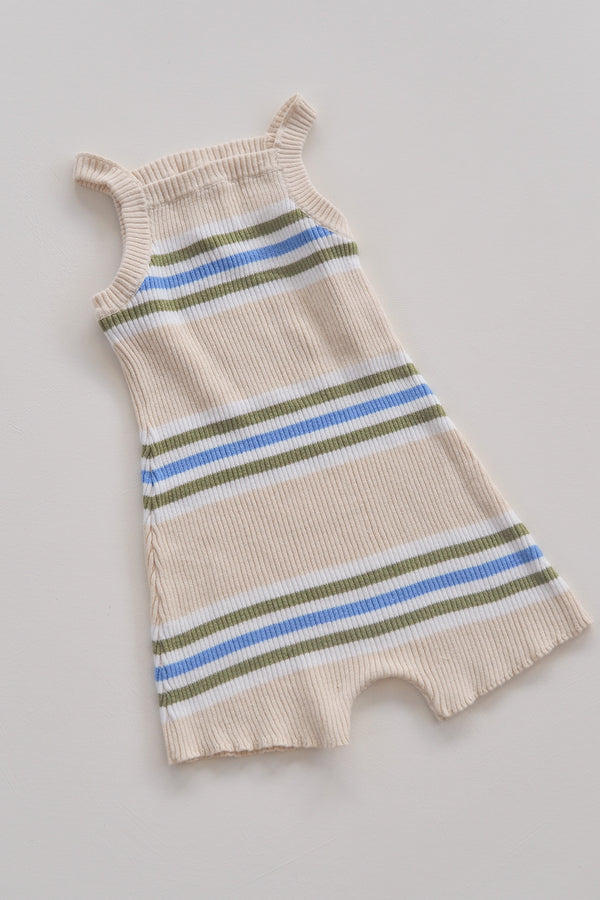 The Adventure Onesie - Natural Stripe