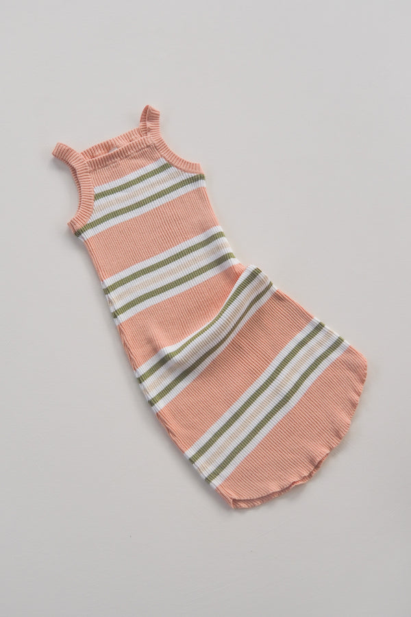 The Adventure Dress - Grapefruit Stripe