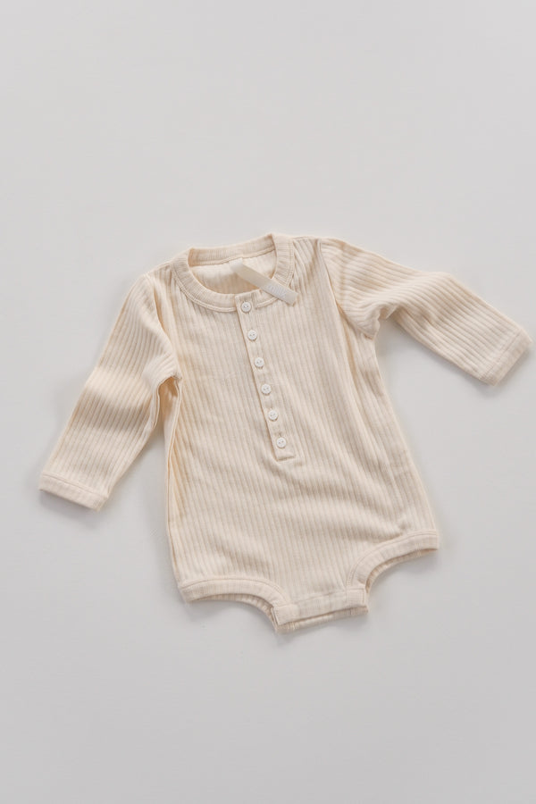 The Base Seasonal Onesie - Almond