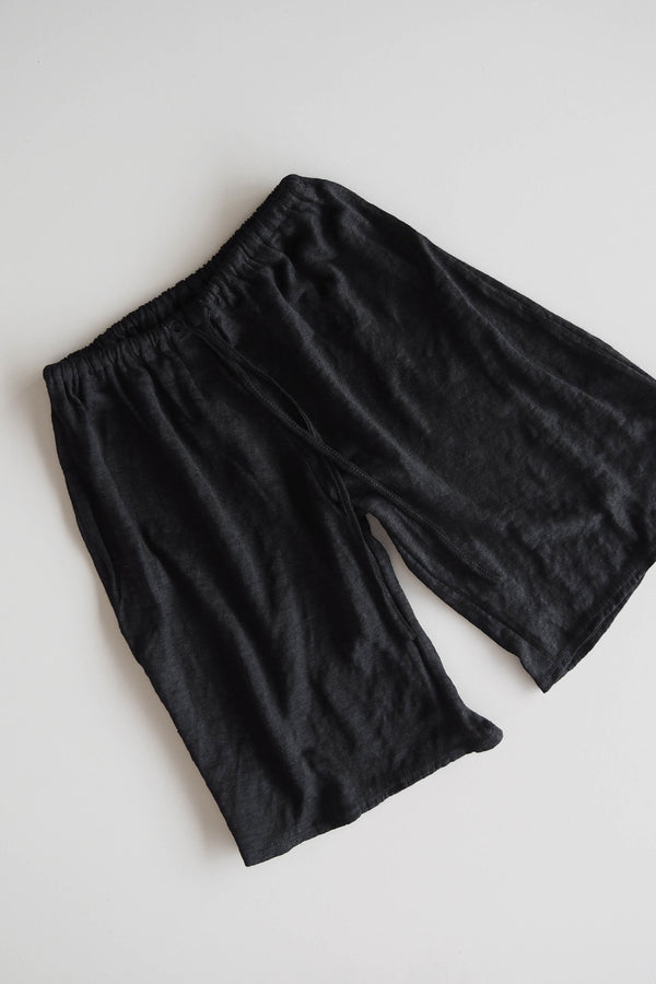 Fall Linen Bed Pant - black