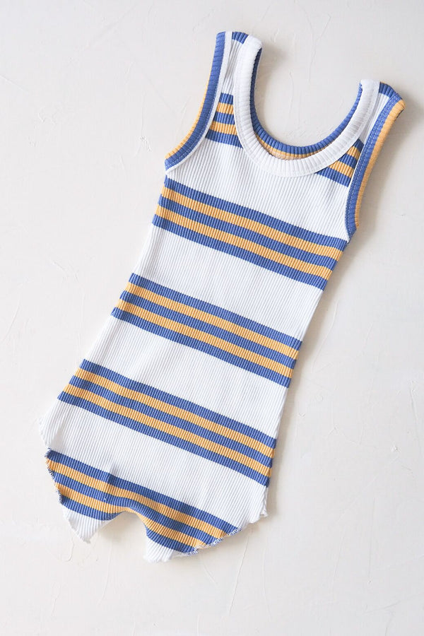 The Holiday Playsuit - blue stripe