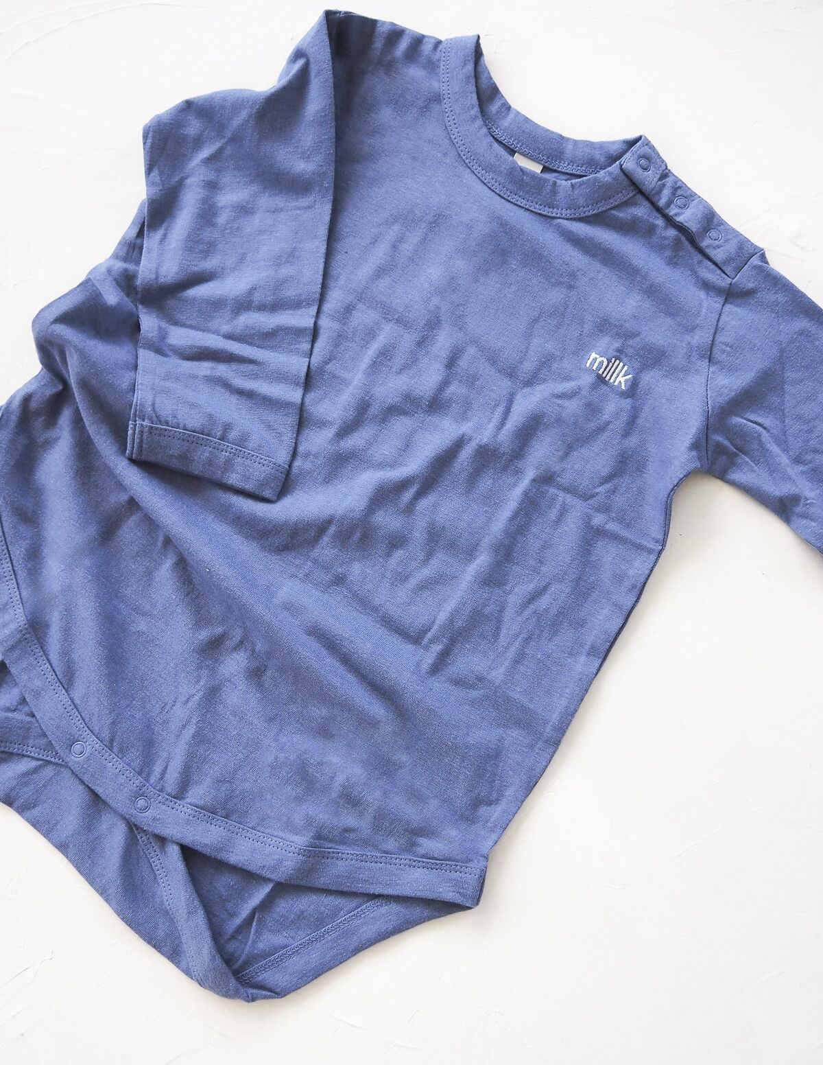 The Original Organic Long Sleeve Onesie - blue