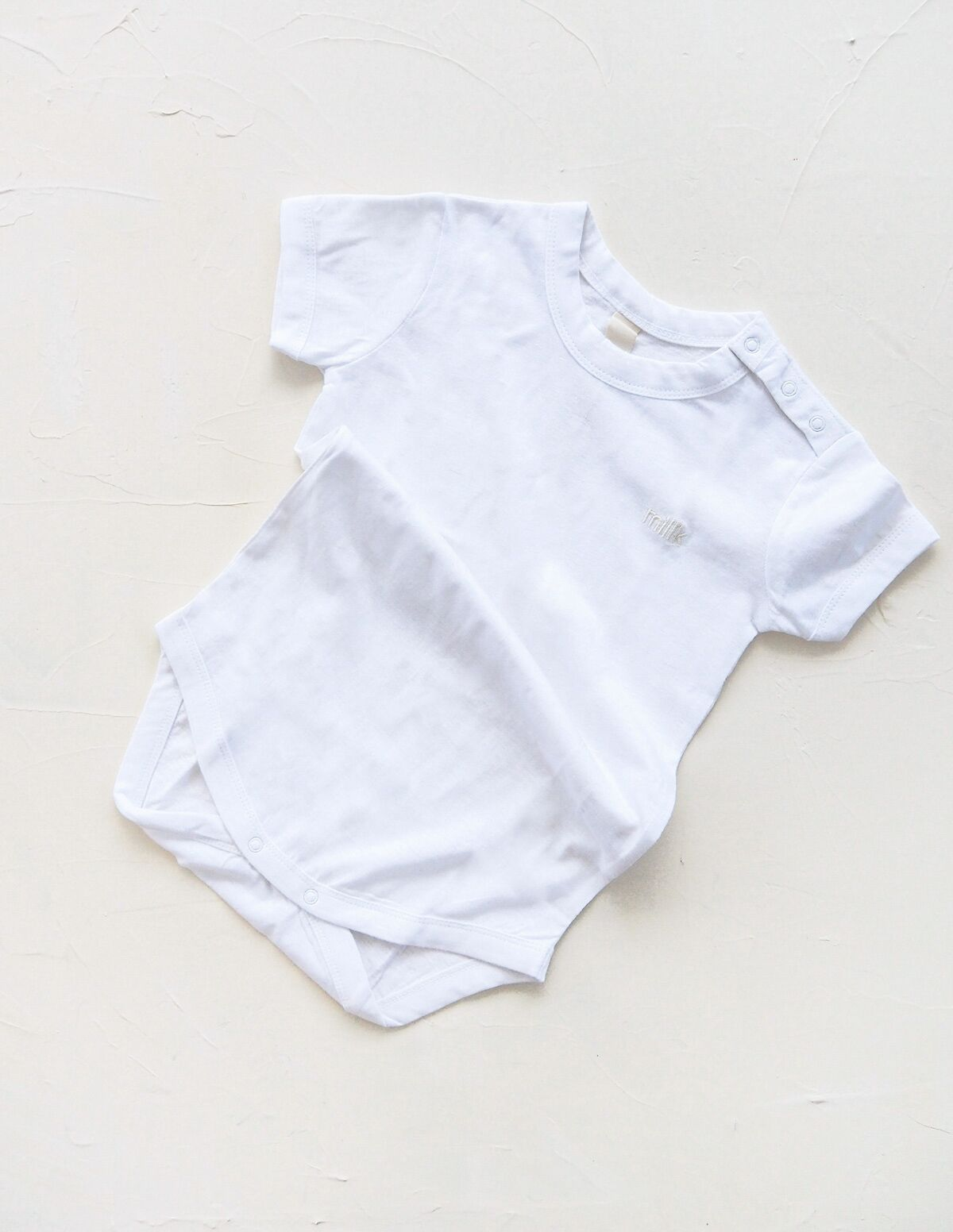 The Original Organic Tee Onesie - White