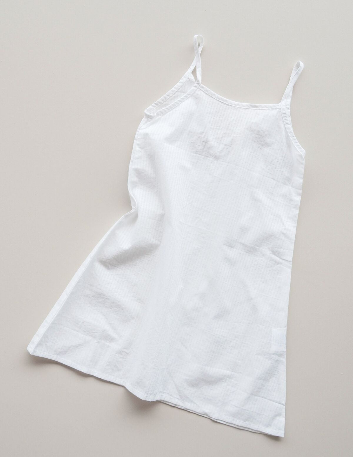 Simple Cotton Bed Slip - white