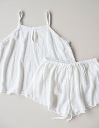 Simple Linen Bed Camisole - cream