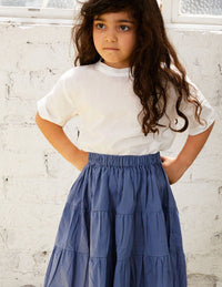 The Simple Organic Skirt - blue
