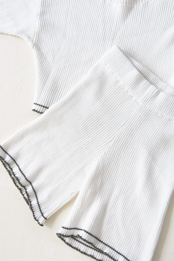 The Anyday Rib Knit Culotte - White