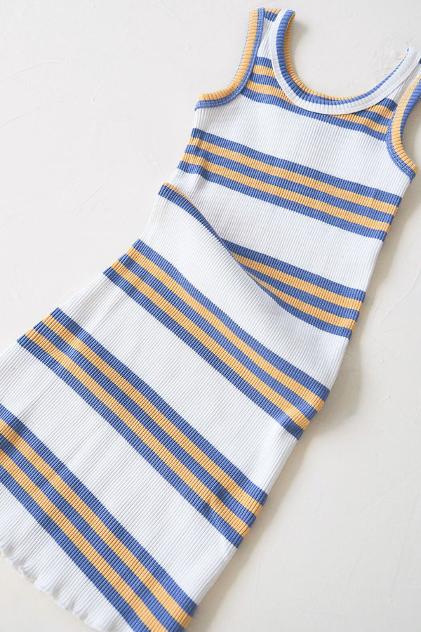 The Holiday Dress - blue stripe