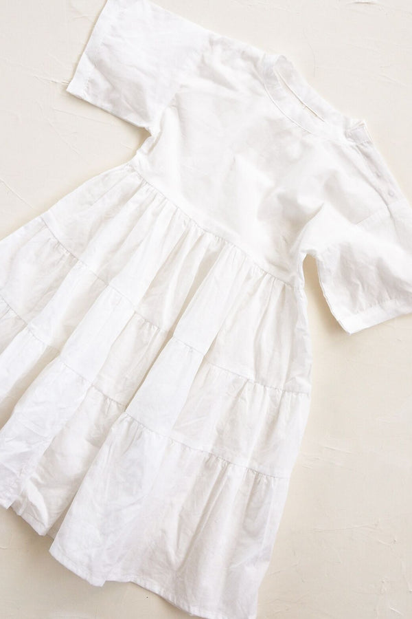 The Simple Organic Dress - White