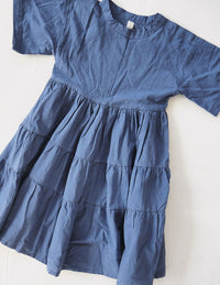 The Simple Organic Dress - Sea Blue
