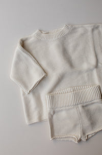 Seasonal Knit Tee - Cream