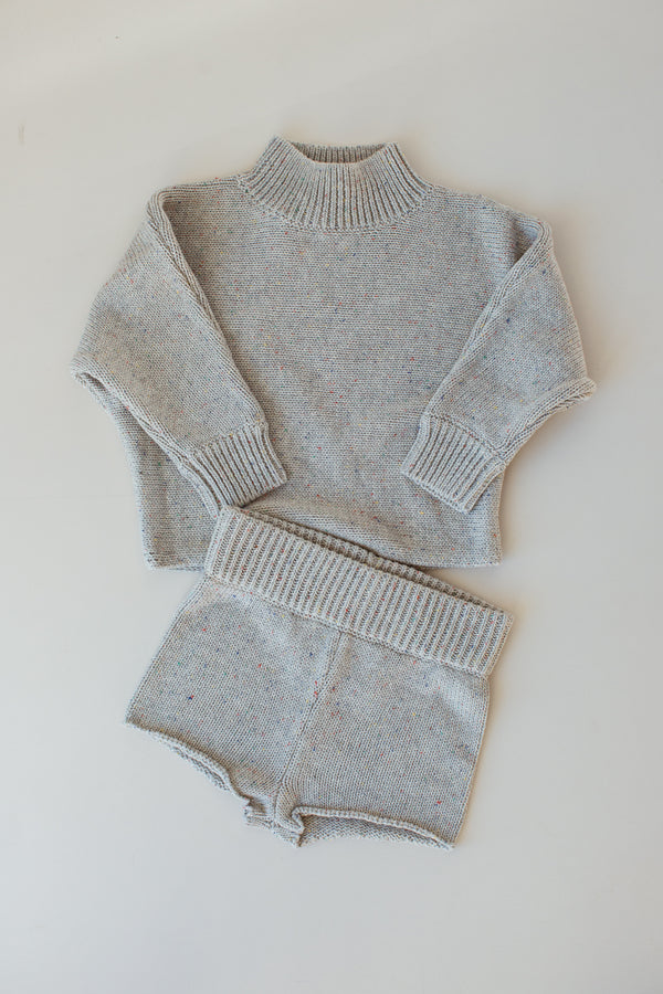 Seasonal Knit Jumper - Grey Marle Sprinkle