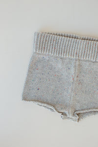Seasonal Knit Short - Grey Marle Sprinkle