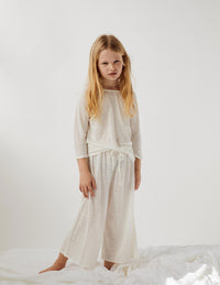 Fall Linen Bed Pant - cream
