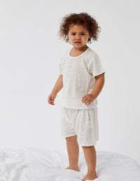 Spring Linen Bed Short - cream