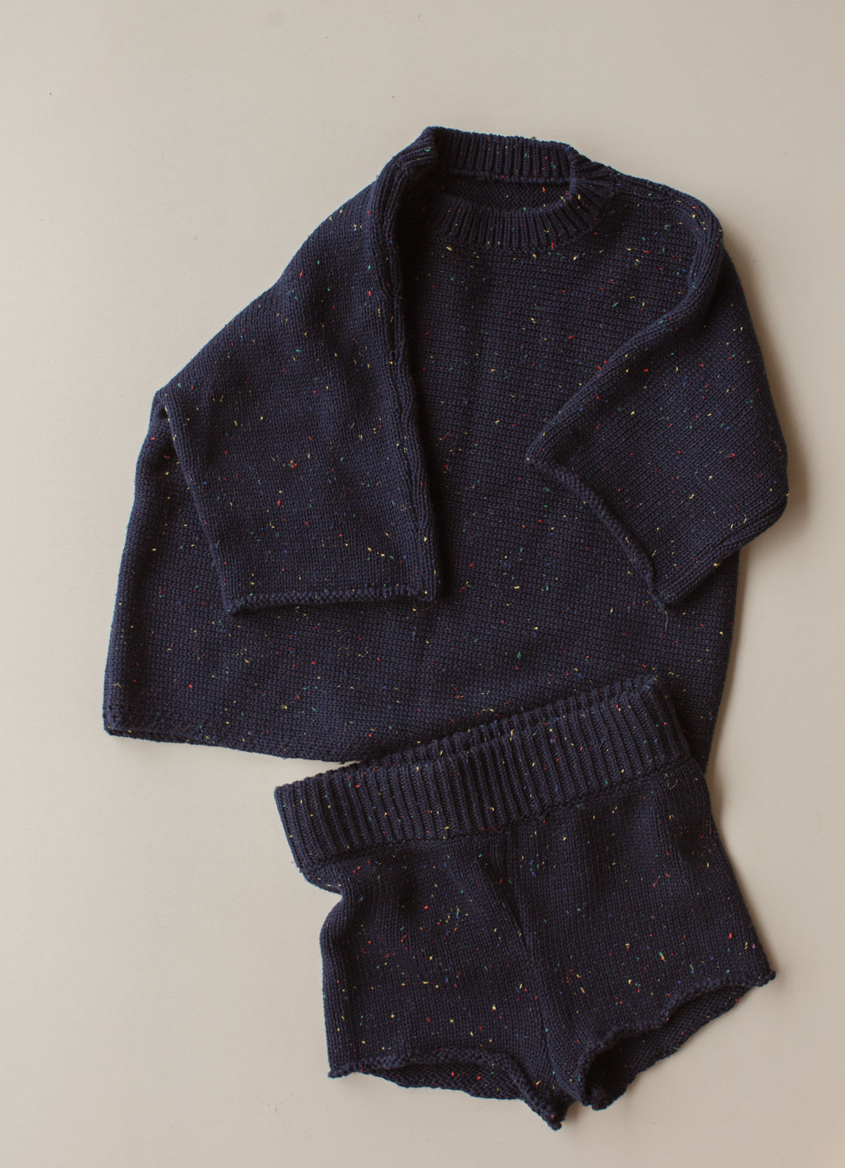 Seasonal Knit Tee - Navy Sprinkle