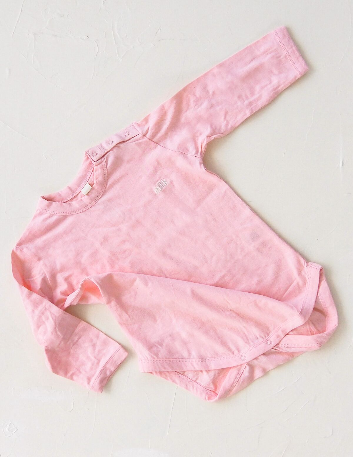 The Original Organic Long Sleeve Onesie - Pink
