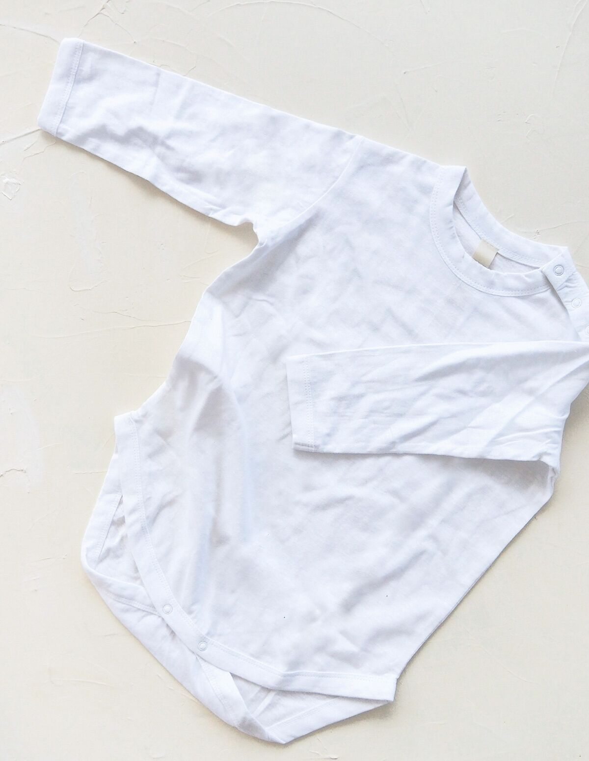 The Original Organic Long Sleeve Onesie - White
