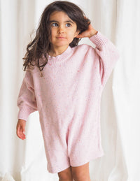 The Pink Sprinkle Knit Playsuit