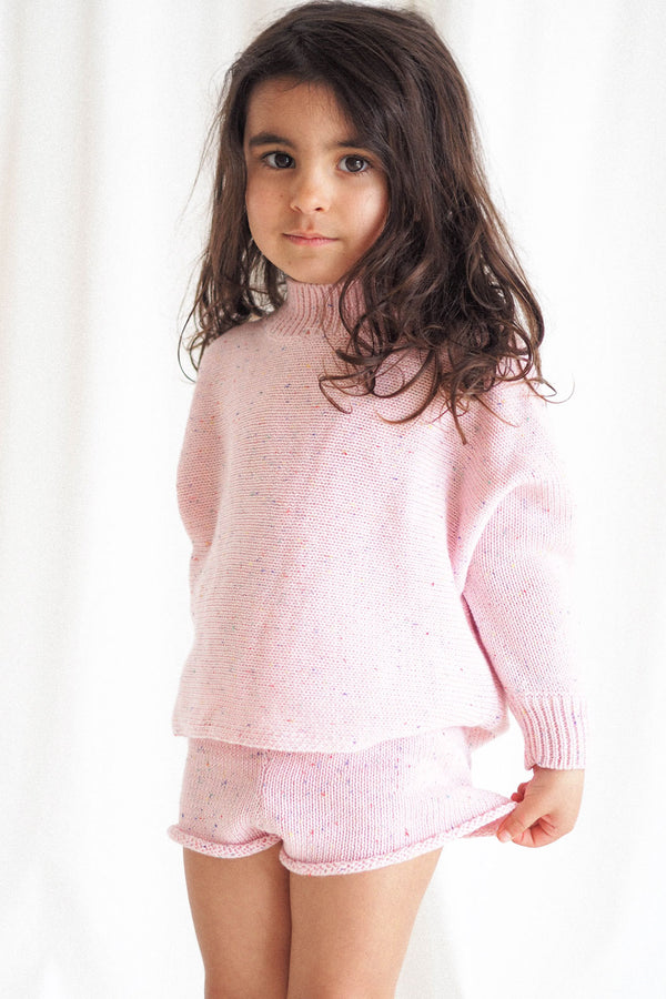 The Pink Sprinkle Knit Shortie