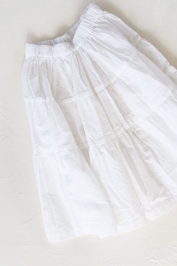 The Simple Organic Skirt - White