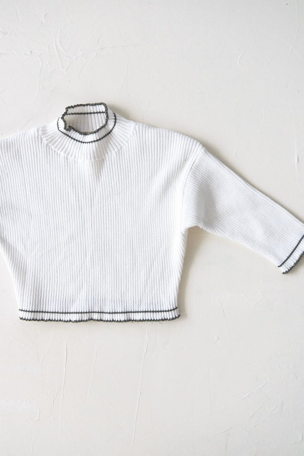 The Anyday Rib Knit Jumper - White