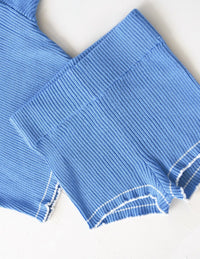 The Anyday Rib Knit Shortie - Sky Blue