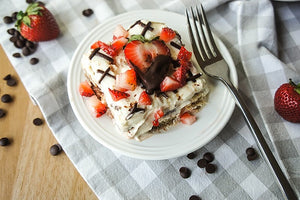 Chocolate Covered Strawberry Greek Yogurt Tiramisu