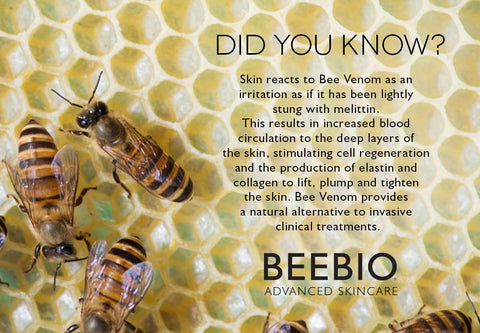 BeeBio Did you know fact - bee venom