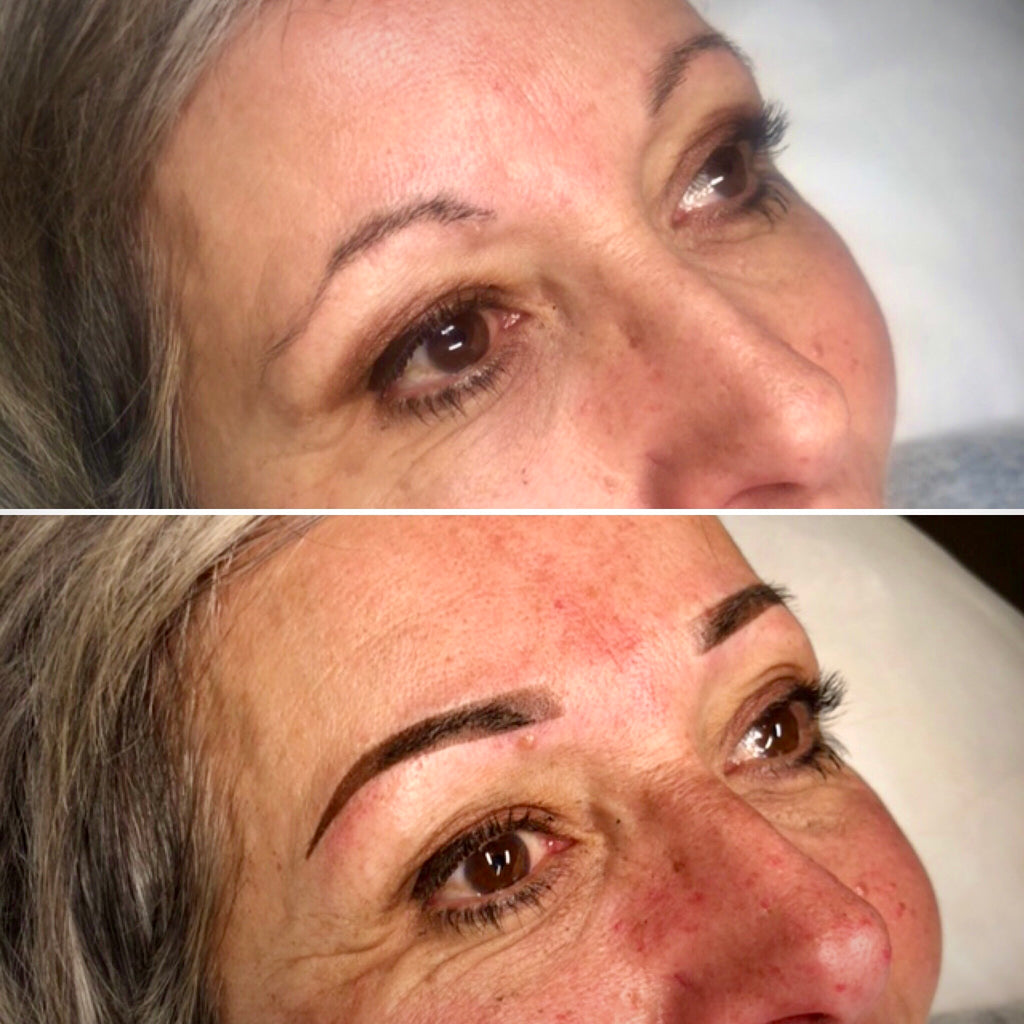 Ombre Brows Before After