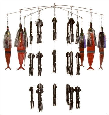 Fire Tailz Marlin Rubber Squid Fishing Dredge - BostLures