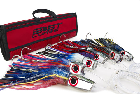 Large Mirrored Marlin Lure Pack by Bost - Rigged/Un-Rigged - BostLures
