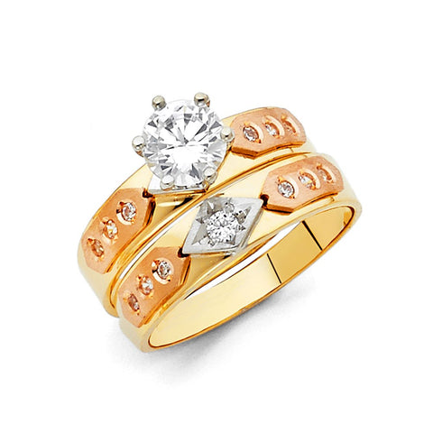 Gold CZ Bridal Sets
