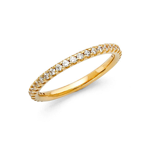 Gold CZ Eternity Rings