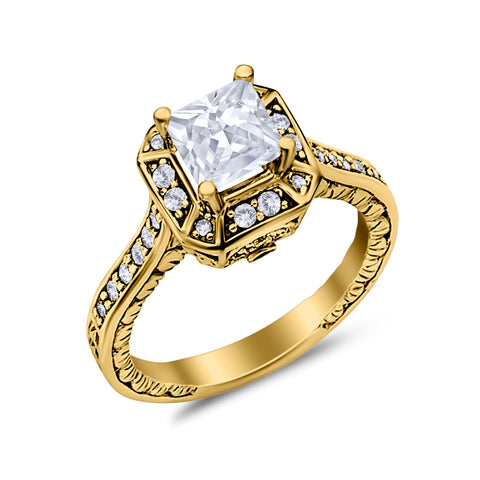 Gold CZ Enagagement Rings
