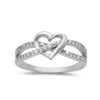 Wedding Infinity Heart Promise Ring Round Cubic Zirconia 925 Sterling Silver