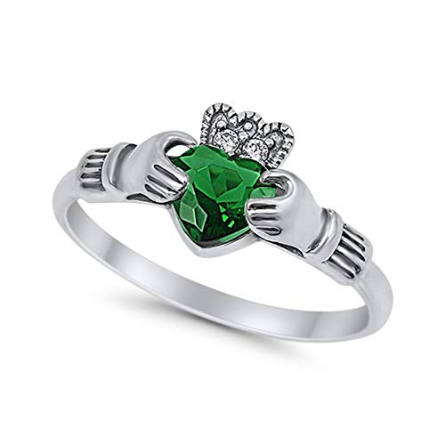 Halo Split Shank Vintage Style Simulated Green Emerald CZ Engagement Bridal Ring 925 Sterling Silver