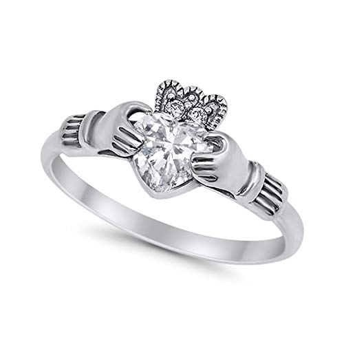 Halo Split Shank Vintage Style Simulated CZ Engagement Bridal Ring 925 Sterling Silver