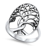 Tree of Life Ring Solid 925 Sterling Silver Family Tree of Life Band