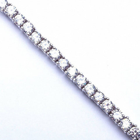 6.50ct Round Russian CZ .925 Sterling Silver Tennis Bracelet 7""