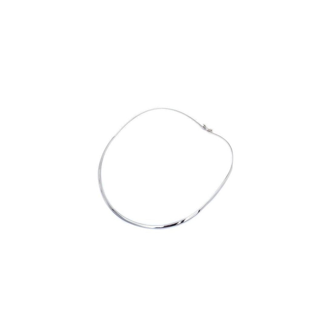 3MM Plain Flat Choker Chain .925 Sterling Silver With Clasp-5.5""