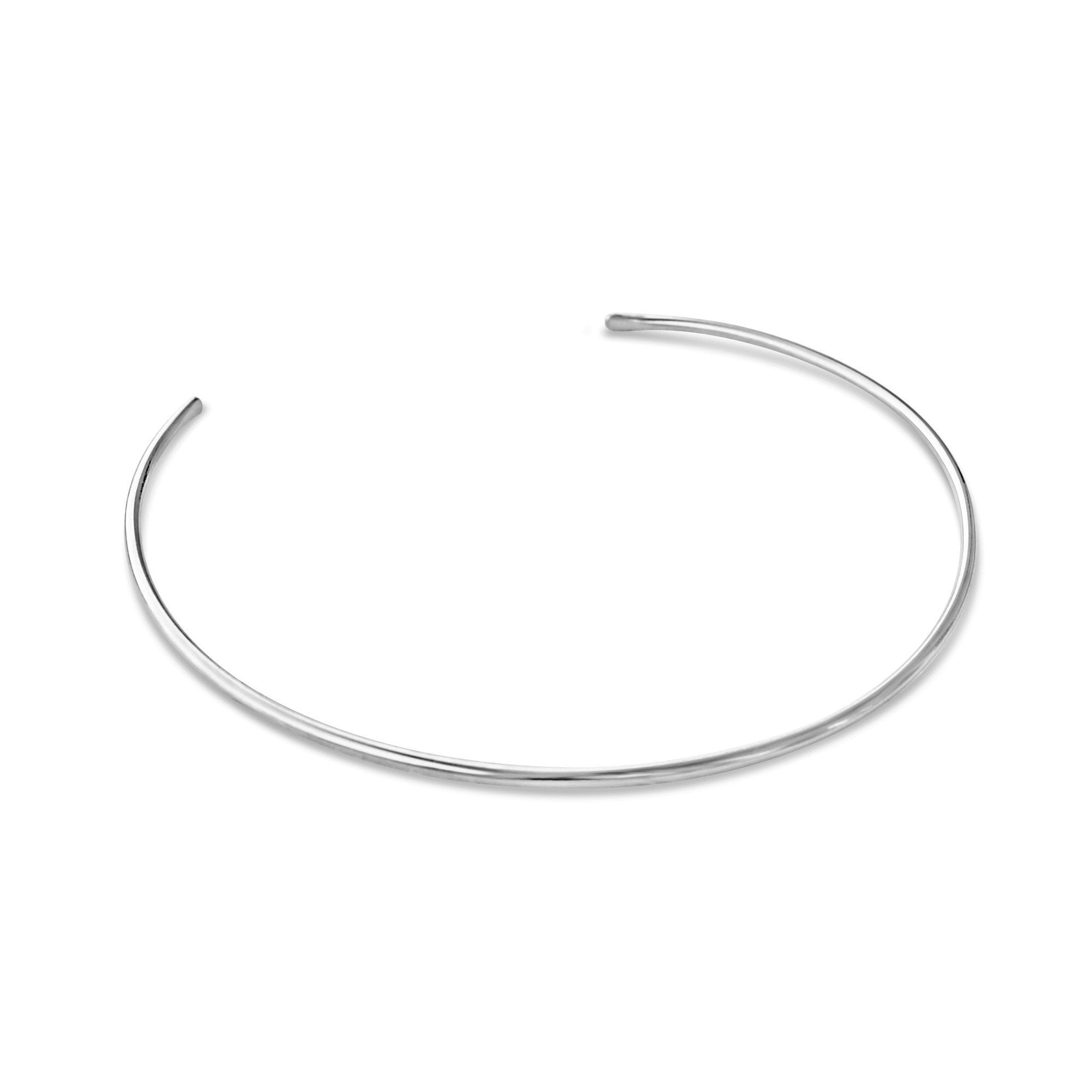 "5MM Collar Choker Chain .925 Sterling Silver No Clasp-""5.25"""