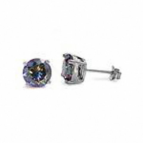ECZ41004 Silver - 4mm Round CZ Earrings - Casting Choose Color